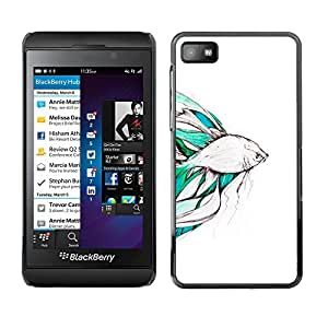 For Blackberry Z10 Case , Koi Pond Japan Minimalism Nature - Diseño Patrón Teléfono Caso Cubierta Case Bumper Duro Protección Case Cover Funda