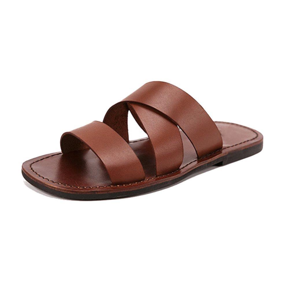 marron YCGCM Chaussons pour Hommes, été, Mode, Chaussures De Plage, Plage, Plage, Angleterre, Antidérapant, Décontracté, Confortable d9b