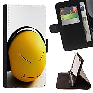 Devil Case- Estilo PU billetera de cuero del soporte del tir¨®n [solapa de cierre] Cubierta FOR Apple iPhone 6 6S 4.7 - Funny Face