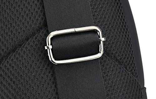 Tela Bag Corsé Hombro Hombres Ocio Deportes Black Y Bolsa Oxford Lienzo Messenger Bolsa SSqUtYw