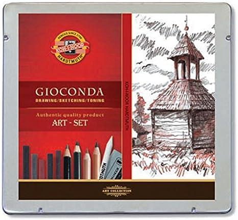 5 St/ück In einer Blechdose verpackt 10 Piece Set multi Koh-I-Noor Polycolor Zeichenstift-Set