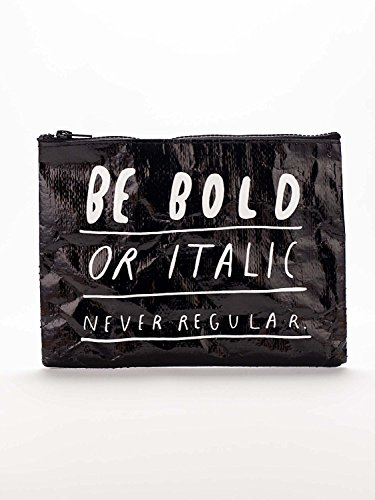 - Blue Q Reusable Zipper Pouch, in Bold Italic