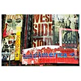 GREATBIGCANVAS Poster Print Entitled in Camera Multiple exposures from Times Square in New York at Dusk by 18'x12'