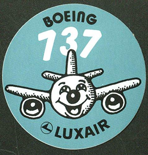 luxair-boeing-737-airline-baggage-sticker-unused-3-diameter-crack-n-peel