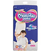 MamyPoko Pants Extra Absorb Diaper Monthly Jumbo Pack, Extra Large, 87 Diapers