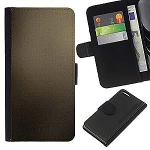 Protector de cuero de la PU de la cubierta del estilo de la carpeta del tirón BY RAYDREAMMM - Apple Iphone 5C - Marrón Azulejos