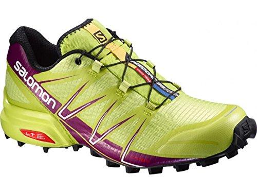 Salomon Women's Speedcross Pro Trail Running Shoes Gecko Green/Mystic Purple 10.5