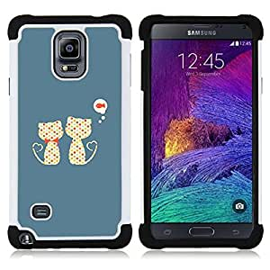 King Case - Cute Cats Cat Fish Pattern - Cubierta de la caja protectora completa h???¡¯???€????€?????brido Body Armor Protecci??&AEli