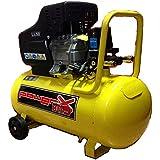 Mistral, Compressore 50 Lt Olio Italy 8 Bar 2 Hp 2 Manometri 2 Connettori 170L/M