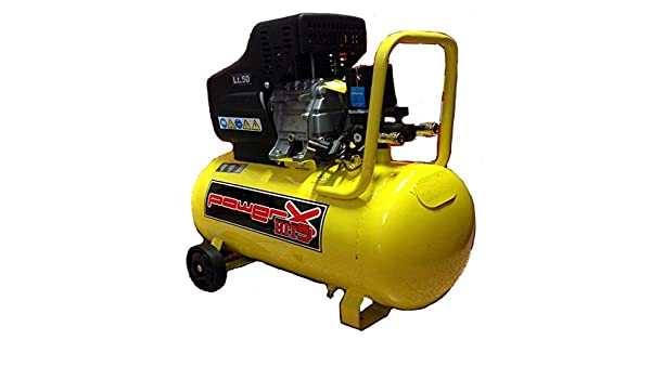 Mistral Italy - Compresor de Aceite 50 l 8 Bares 2 Hp 2 Manómetros 2 Conectores, 170 l/m: Amazon.es: Bricolaje y herramientas