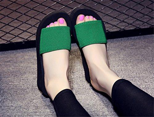 Summens Damen Sandalen Flip-Flops Dusch- & Badeschuhe Pantoletten Grün