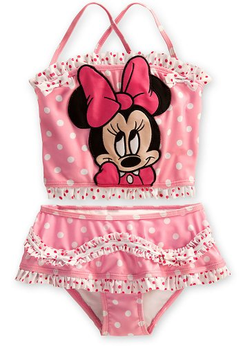 Disney Store Minnie Mouse Swimsuit: Pink 2-Piece Tankini ...