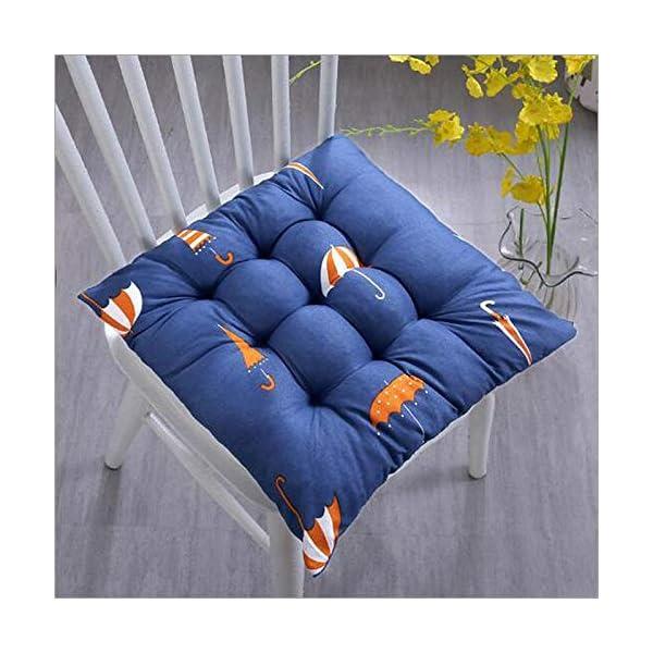 Bledyi, cuscino quadrato, comodo e resistente, per sedie da pranzo, da giardino, 40 x 40 cm Giallo. 6 spesavip
