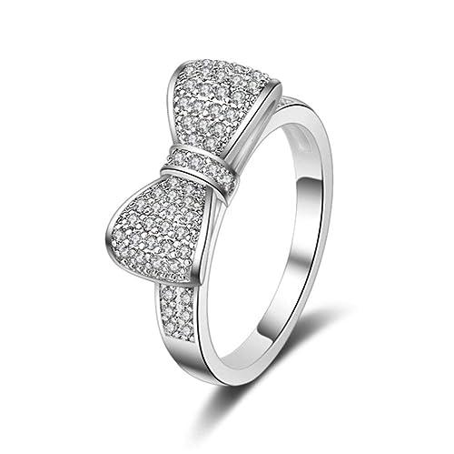Allring Ringe Damen Bands Exquisite Beliebtes Schleife Ring Damen
