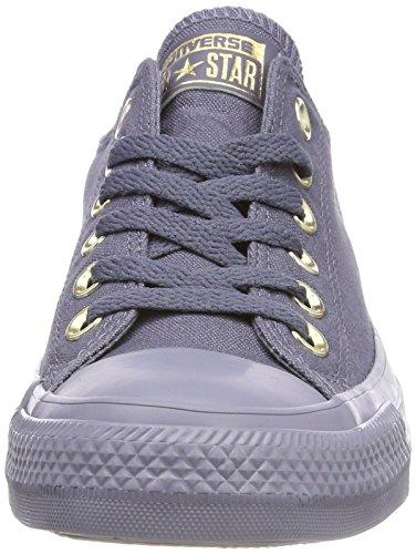 Converse Unisex-Erwachsene CTAS Ox Light Carbon/Gold Sneaker Blau (Light Carbon/Light Carbon/Gold)