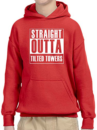New Way 883 - Youth Hoodie Straight Outta Tilted Towers Fortnite Battle Royale Unisex Pullover Sweatshirt Medium (Out Kids Sweatshirt)