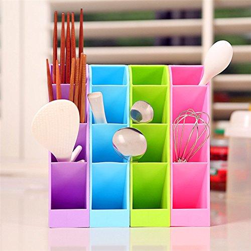 Xuxuou Portapenne Porta Penne da Scrivania Scatola di Immagazzinaggio Desktop Portapenne Plastica Verde