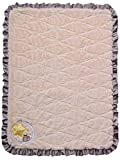 Twinkles of Joy Light Up and Musical Receiving Baby Blanket, Lilac Owl on the Moon