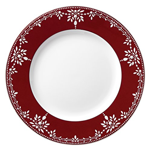 Lenox Marchesa Empire Pearl Dinner Plate, Wine (Pearl Beaded Plate)