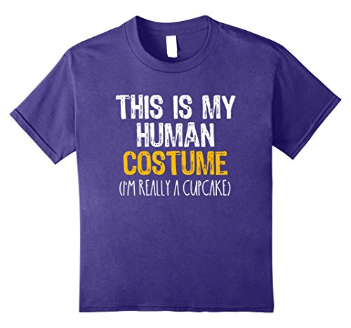 Kids This Is My Human Costume Cupcake Halloween Funny T-shirt 8 (Crazy 2017 Halloween Costumes)