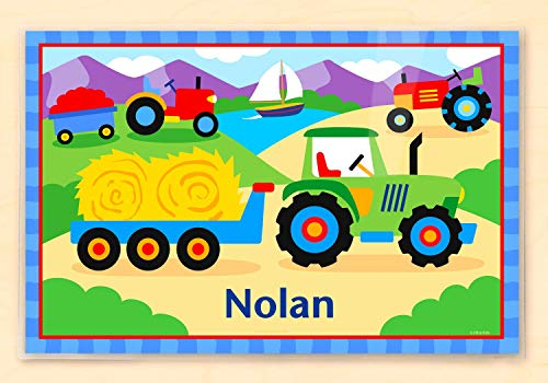 Olive Kids Tractor Personalized Placemat, Laminated, 18