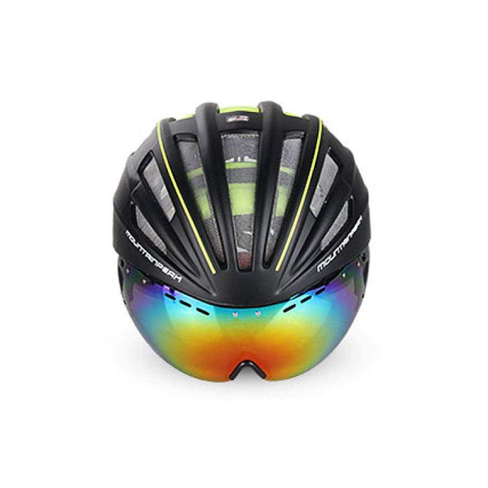 HELMET Fahrradhelm,Abnehmbare Schutzbrille,Sonnenblenden Für Männer und Frauen,Einstellbare Sicherheit Für Erwachsene und Belüftung,D