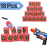 Elongdi EVA Soft Bullet Target, [ Pack of 18 ] Dart Form Targets for Kids Toy Gun Shooting Games and Target Practice, Compatible with NERF N-Strike Elite Series Blasters and More Toy Guns Shooting