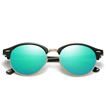 HYUHYU Nuevas Gafas De Sol Redondas Polarizadas para Hombre ...