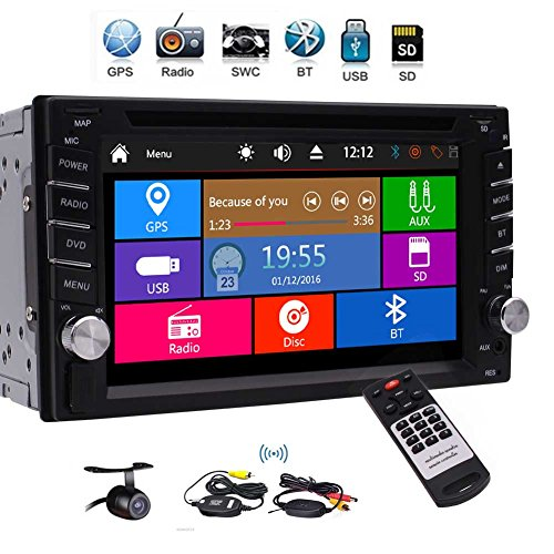 EinCar Double Din Car Stereo fwith GPS Navigation 3 Type UIs support 1080P...