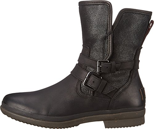 0b575c9688d UGG Women's Simmens Leather Rain Boot, Black Leather - 8 B(M ...