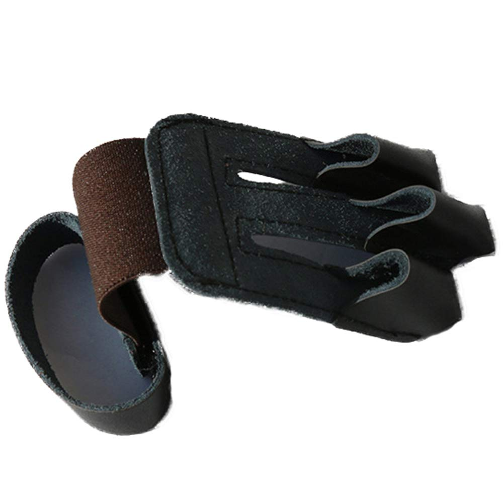 Eickawa Kind Kind Bogenschie/ßen Leder Fingerschutz Einstellbare 3 Finger Handschuhe F/ür Jagd Schie/ßscheiben /Übungsbogen