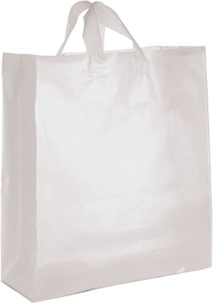 Amazon.com: Jumbo transparente esmerilado de plástico bolsas ...