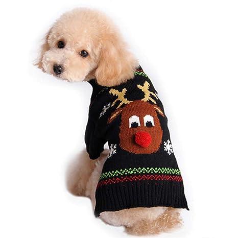 FONLAM Disfraz Jersey de Navidad para Perro Cachorro Gato ...