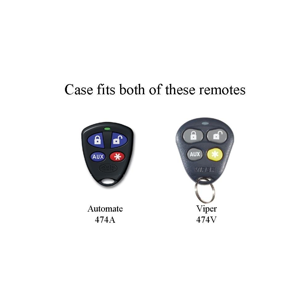 874V Viper 4-Button Replacement Case for 474V Remote