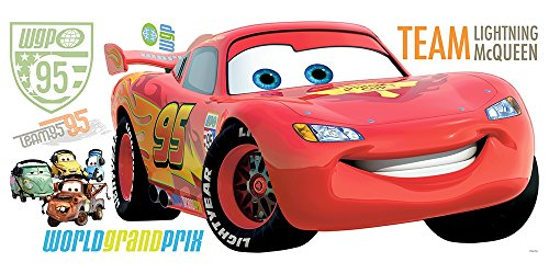 Roommates Rmk1582Gm Disney Pixar Cars 2 Lightning Mcqueen Peel & Stick Giant Wall Decal (Set Pixar Decal)