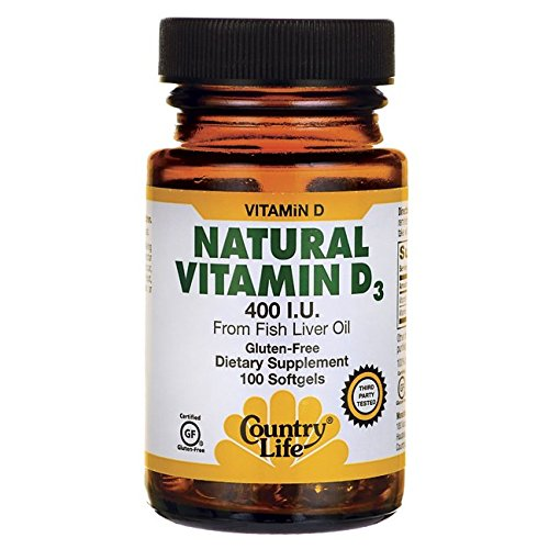Country Life - Natural Vitamin D3, 400 IU - 100 (Country Life Natural Vitamin)