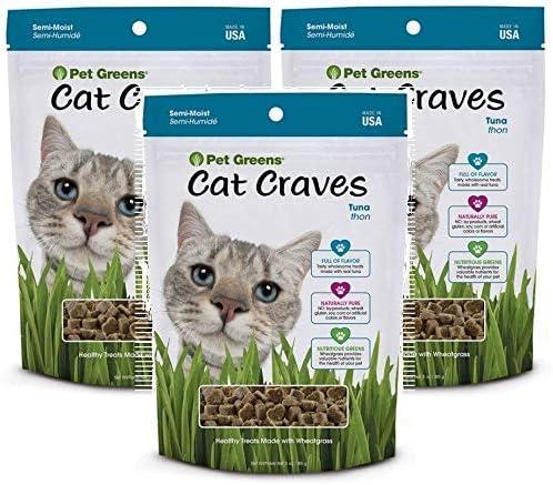 Pet Greens Semi-Moist Cat Craves Tuna Flavored Treats, 3 Ounces Each
