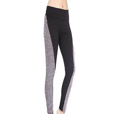 HaiDean Pantalones Deportivos Mujer Cintura Elásticas Ajustadas ...