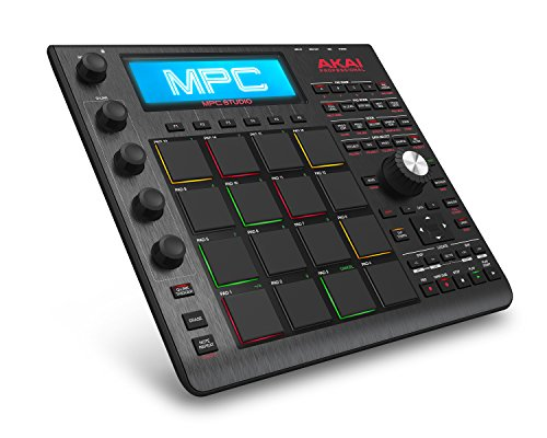 Touch Sensitive Lcd - Akai Professional MPC Studio Black | Ultra-Portable MPC With MPC Software (Download), USB Power, LCD Screen, Touch Sensitive Encoders, Brushed Aluminium Body & Data Dial