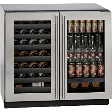 U-Line U3036BVWCS00B 36 Built-in Beverage Center and Wine Storage, Stainless Steel