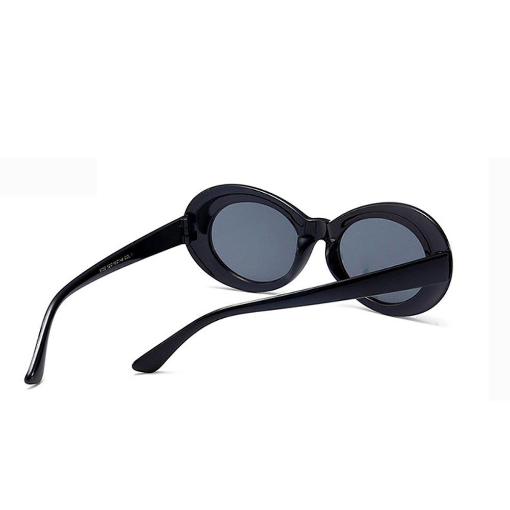 0f5046c5c6 Amazon.com  BestWare Vintage Sunglasses Classic Eyeware Glasses Oval Sun  Glasses Fashion Eyewear Fashion Shades black  Clothing