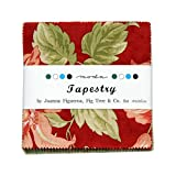 "Fig Tree TAPESTRY 2.5"" MINI Charm Pack Fabric Quilting Squares Moda 20190MC"