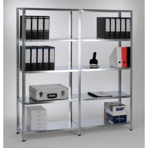 Mammut® Schraubregal - Grundregal - Größe wählbar und beliebig erweiterbar - verzinkt, 80x200x35
