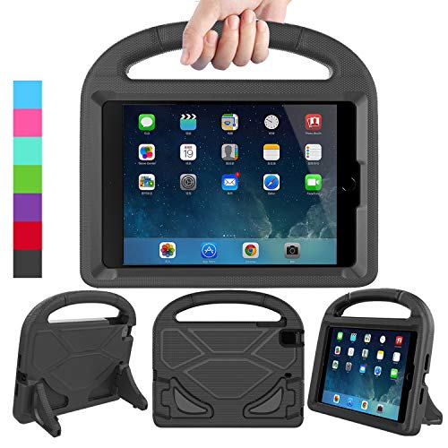 LEDNICEKER Kids Case for iPad Mini 1 2 3 4 5 - Light Weight Shock Proof Handle Friendly Convertible Stand Kids Case for iPad Mini, Mini 5 (2019), Mini 4, iPad Mini 3rd Gen, Mini 2 - Black