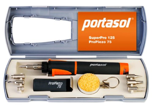 Portasol 011289250 Pro Piezo 75-Watt Heat Tool Kit with 7 (Cold Heat Tip)
