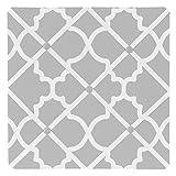 Sweet Jojo Designs Gray and White Trellis Print Lattice Fabric Memory/Memo Photo Bulletin Board
