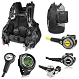 Mares Quantum BCD, Abyss 22 Regulator with Octo, Pro Plus Dive Computer, Scuba Gear Package