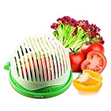 Salad Cutter Bowl cenow Food Grade ABS convenient For Chopping Vegetables Fruits in 60 second Use As A Strainer No Cutting Board Needed Salad Chopper Healthy Food Maker