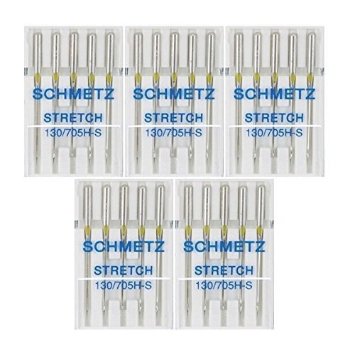 - 25 Schmetz Stretch Sewing Machine Needles 130/705H H-S Size 75/11
