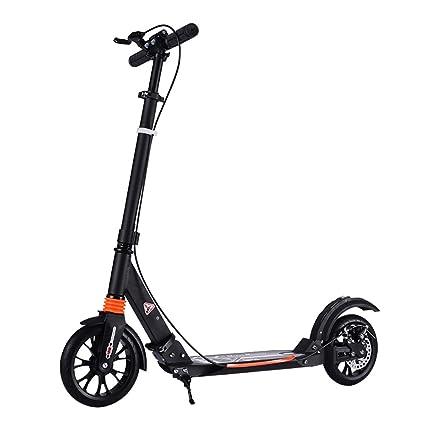 Patinetes de tres ruedas Kick Scooter Plegable para Adultos, Manija Antideslizante de Altura Ajustable de